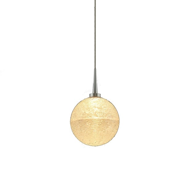 Dazzle Matte Chrome Metal and Clear Glass 1-LED 4-inch Canopy Pendant