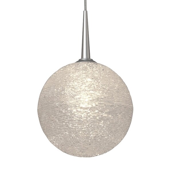 Dazzle 1 Clear Glass and Chrome Metal 4-inch Canopy 1-LED Pendant Light