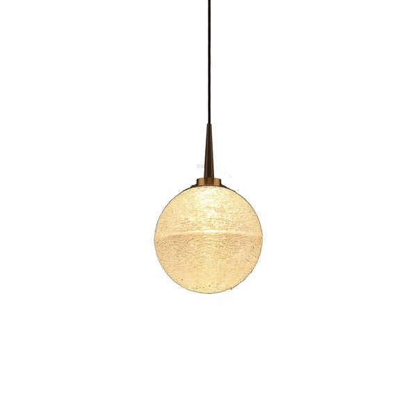 Dazzle 1 Bronze Clear Glass Shade 4-inch Canopy 1-LED Pendant