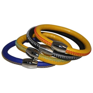 Men's Colorful Genuine Italian Leather Bracelet