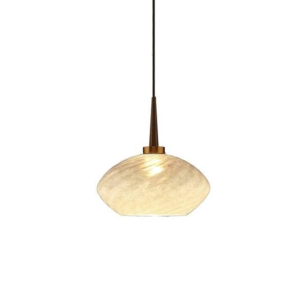 Bruck Lighting Pandora Bronze Metal/Glass 4-inch Canopy Pendant Light Fixture