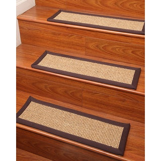 "Handcrafted Casual Living Sisal Stair Treads 9"" x 29"" (Set of 13)"