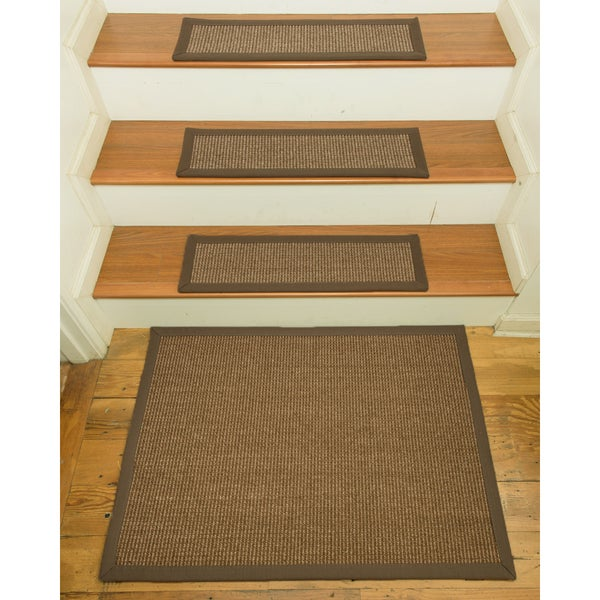 Handcrafted Sandstone Sisal Carpet Stair Treads With Landing Mat (Set Of  13)   9