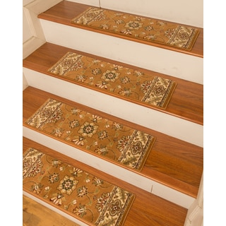"Handcrafted Sherwood Carpet Chestnut Stair Treads (9"" x 29"") (Set of 13)"