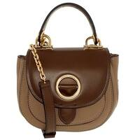 Michael Kors Isadore Small Dark Khaki/Dark Caramel  Top Handle Crossboy Handbag