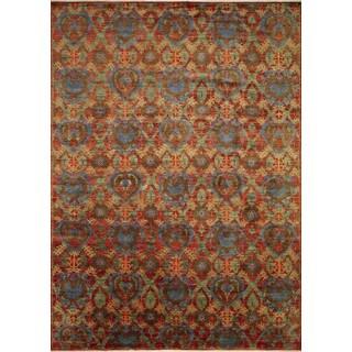 Fine Oushak Aisara Rust/ Blue Rug (10'1 x 13'10)