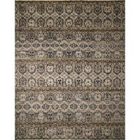 Fine Oushak Ajar Brown/ Blue Rug (12' x 14'9) - 12' x 14'9