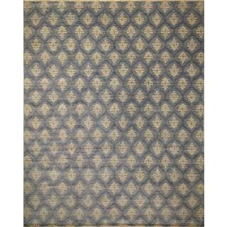 Fine Oushak Akkenje Grey/ Blue Rug (12'2 x 14'9)