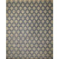 Fine Oushak Akkenje Grey/ Blue Rug (12'2 x 14'9) - 12'2 x 14'9