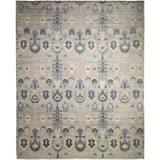 Fine Oushak Ayeza Silver/ Grey Rug (12' x 14'11)