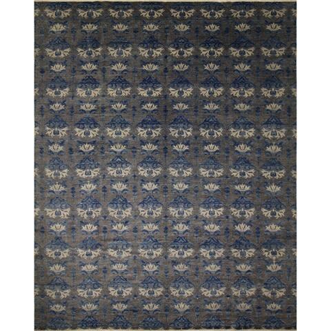 Noori Rug Fine Oushak Bazargul Charcoal/Blue Rug - 11'10 x 14'10