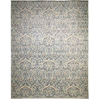 Fine Oushak Mahnoor Lt. Blue/ Grey Rug (12'2 x 15'3)