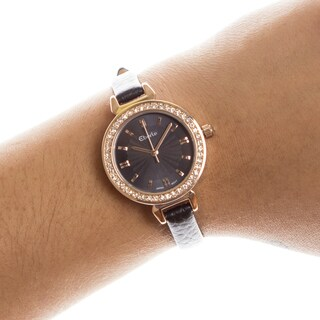 Eberle Austonian Ladies Watch Genuine Leather Strap