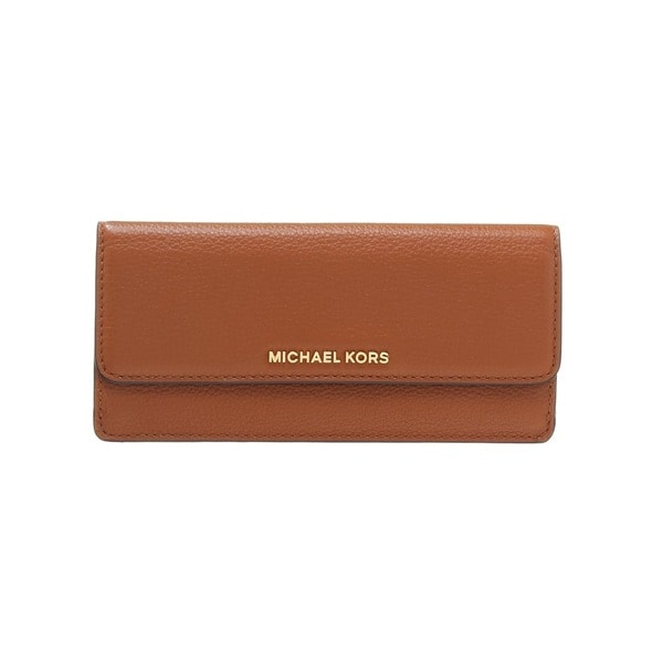bf50e41a228a Shop Michael Kors Bedford Luggage Brown Flat Wallet - On Sale - Free ...