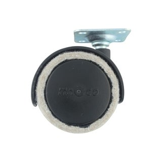 Feltac Fusion Wheels Felt-lined Dual Wheel Casters With Mounting Plate