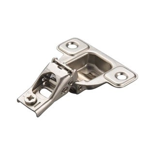 Salice E-Centra Nickel-plated Metal 106-degree 1/2-inch Overlay Screw-on Face Frame Hinge With 2 Cams