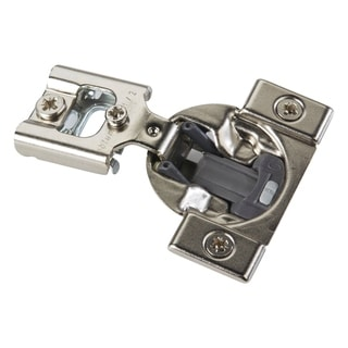 Compact 38N Series Blumotion Silver-finished Metal 1/2-inch 105-degree Overlay Press-in Soft-close Cabinet Hinge