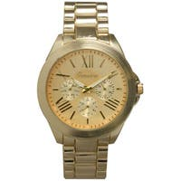 Olivia Pratt Classy 3-Dial Colorful Dial Metal Bracelet Boyfriend Watch