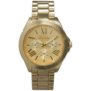 Olivia Pratt Classy 3-Dial Colorful Dial Metal Bracelet Boyfriend Watch