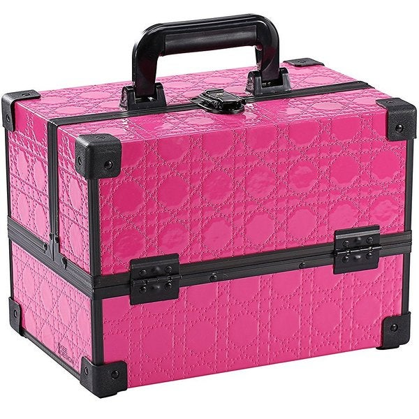 Ikee Design Pink Makeup Travel Carrying Case With Sturdy