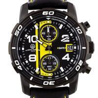 Aubert Freres Durand Men's Chronograph Watch IP Unidirectional Stainless Steel Bezel