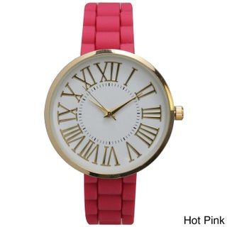 Olivia Pratt Stainless-steel Silicone Band Classy Bold Roman Numeral Dial Watch