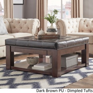 Lennon Espresso Square Storage Ottoman Coffee Table by iNSPIRE Q Classic (5 options available)