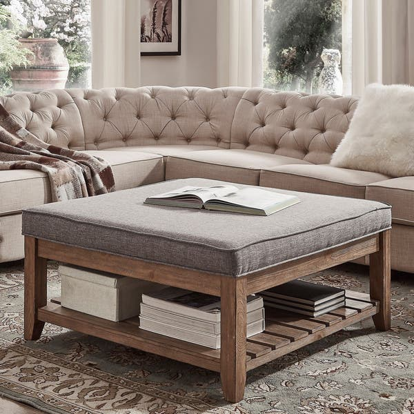 Sensational Shop Lennon Pine Planked Storage Ottoman Coffee Table By Ncnpc Chair Design For Home Ncnpcorg