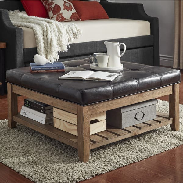 Astounding Shop Lennon Pine Planked Storage Ottoman Coffee Table By Gmtry Best Dining Table And Chair Ideas Images Gmtryco