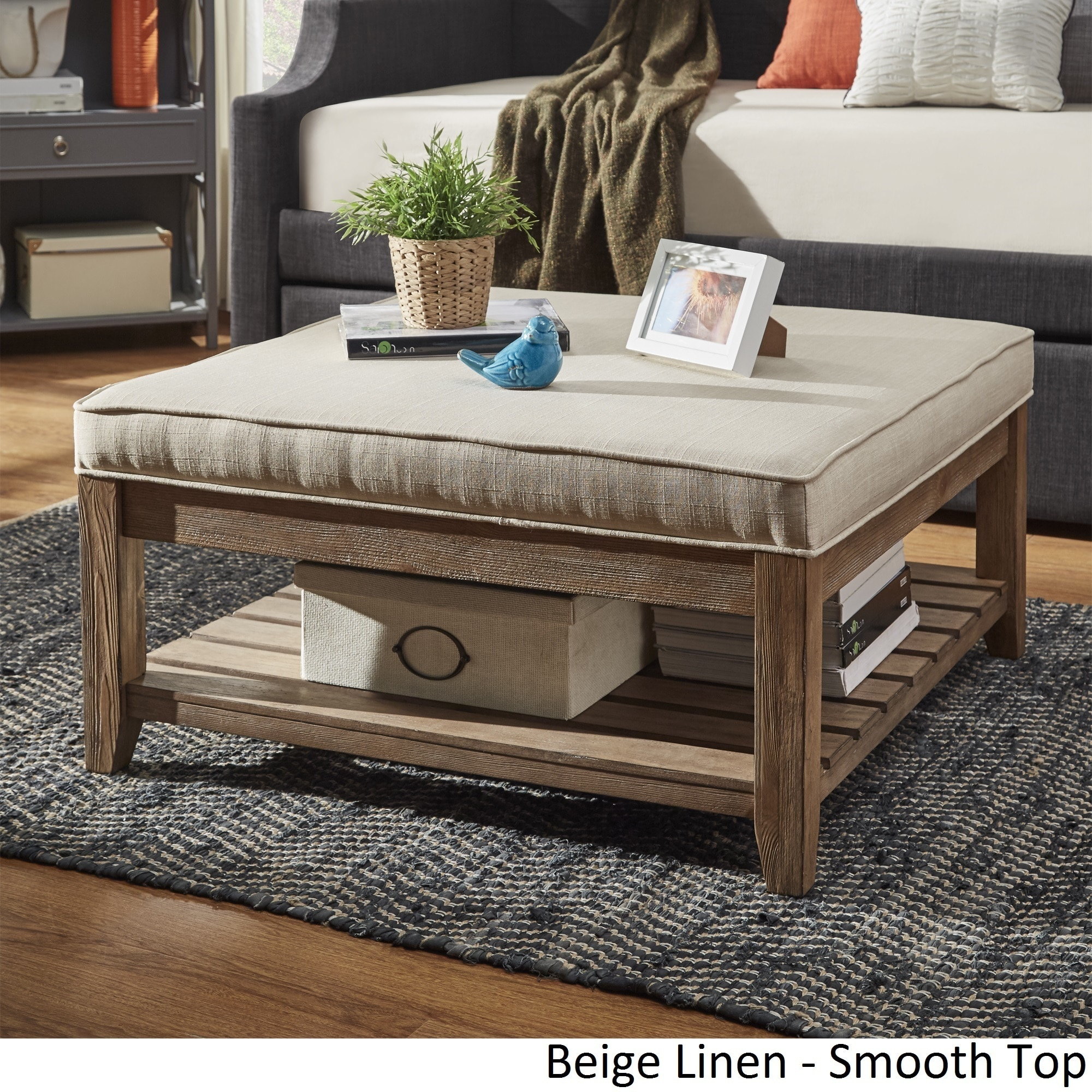 Excellent Details About Lennon Pine Planked Storage Ottoman Coffee Table By Inspire Gmtry Best Dining Table And Chair Ideas Images Gmtryco