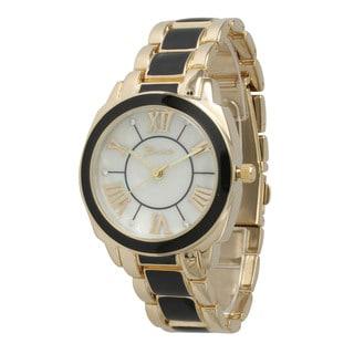 Olivia Pratt Women's Stainless Steel Dual Tone Bracelet Watch