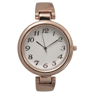 Olivia Pratt Sleek and Simple Metal Bangle Watch