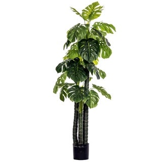 Laura Ashley Artificial 72-inch Tall Outdoor/Indoor Monstera Ceriman