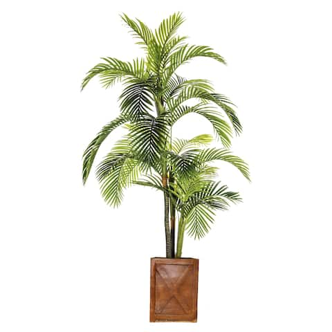 93-inch Artificial Palm Tree in Fiberstone Pot