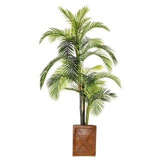 93-inch Artificial Palm Tree in Fiberstone Pot