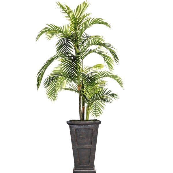 Laura Ashley 102.8-inch Palm Tree in Fiberstone Pot