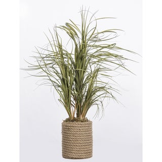 Laura Ashley Plastic Grass in Rope Vase
