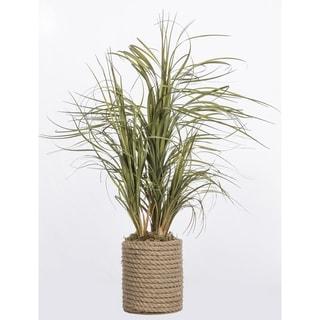Laura Ashley Plastic Grass in Rope Vase