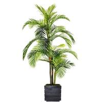 Laura Ashley Artificial 90-inch Tall Palm Tree in Fiberstone Pot
