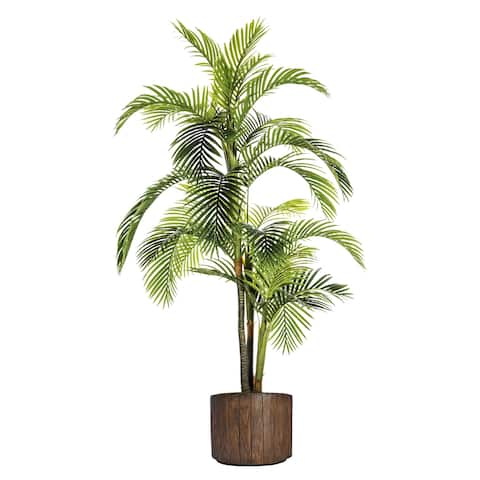 Laura Ashley Plastic and Fiberstone Pot 88.8-inch Palm Tree