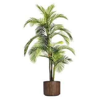 Laura Ashley Plastic and Fiberstone Pot 88.8-inch Palm Tree