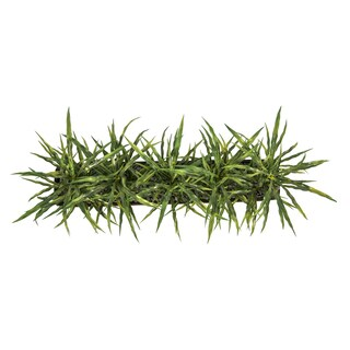 Laura Ashley Plastic and Resin 30-inch x 12-inch x 15-inch High Faux Grass in Vase