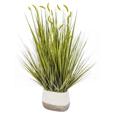 "Onion Grass in Ceramic Fire-reactive Vase - 32"""