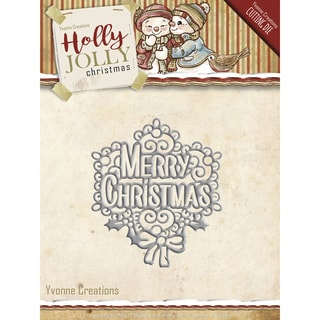 Find It Trading Yvonne Creations Holly Jolly Die-Merry Christmas