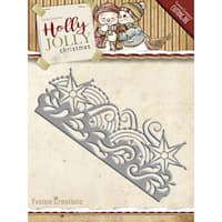 Find It Trading Yvonne Creations Holly Jolly Die-Snowflake Border