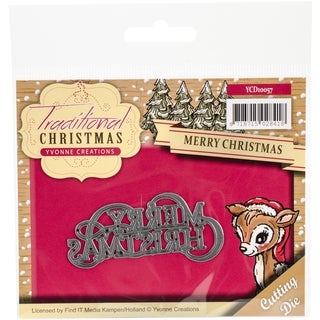 Find It Trading Yvonne Creations Traditional Christmas Die-Merry Christmas