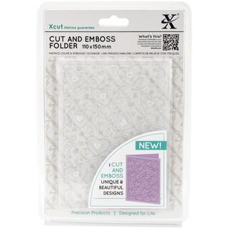 Xcut Cut & Emboss Folder 110mm X 150mm-Heart Pattern
