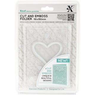 Xcut Cut & Emboss Folder 110mm X 150mm-Heart Frame