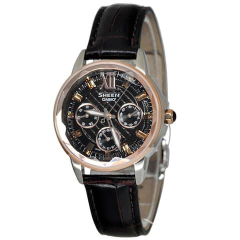 Casio Sheen Women's Brown Dial Watch