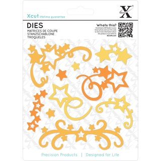 Xcut Decorative Dies 10/Pkg-Star Flourish